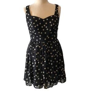 Wet Seal Black Sleeveless Polka Dot dress Size M